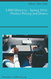 LIMS Directory - Spring 2016: Product Pricing and Demos