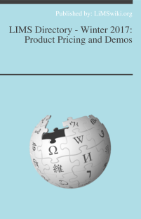LIMS Directory - Winter 2017: Product Pricing and Demos